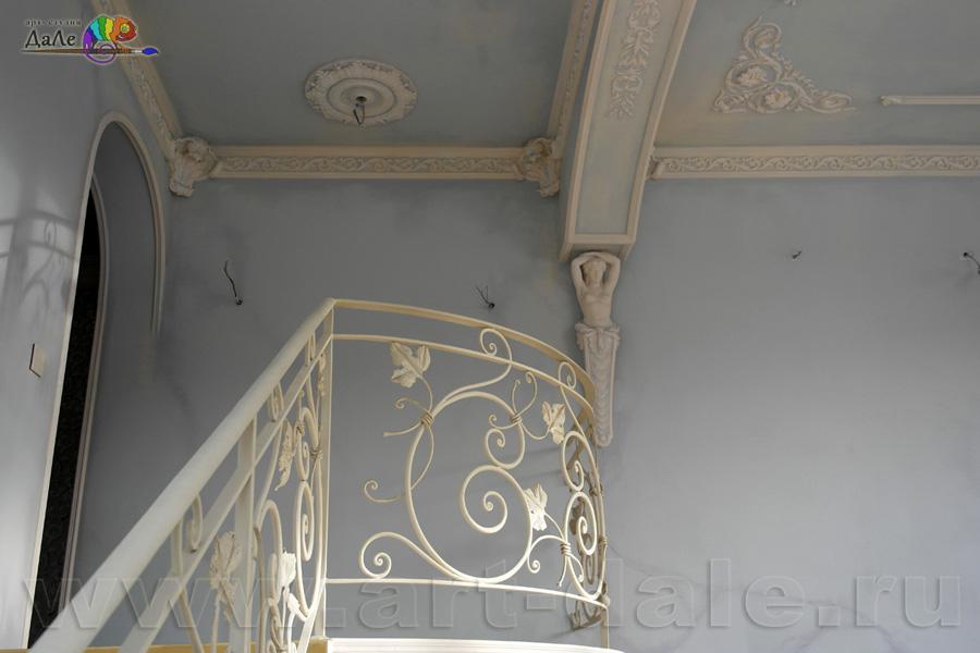 Альфрейная роспись в стиле прованс