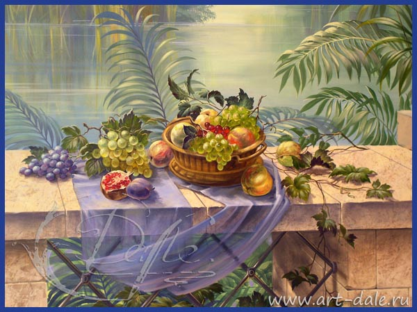 Роспись стен на кухне. Фрагмент